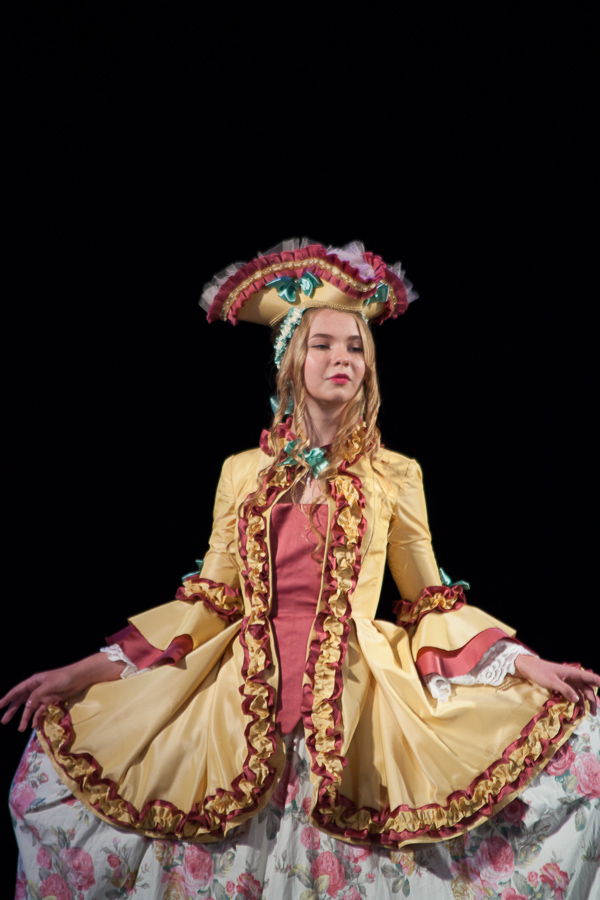 Ballroom image Marquise de Pompadour. Diploma artist dresser. Odessa Theater School. graduate 2015