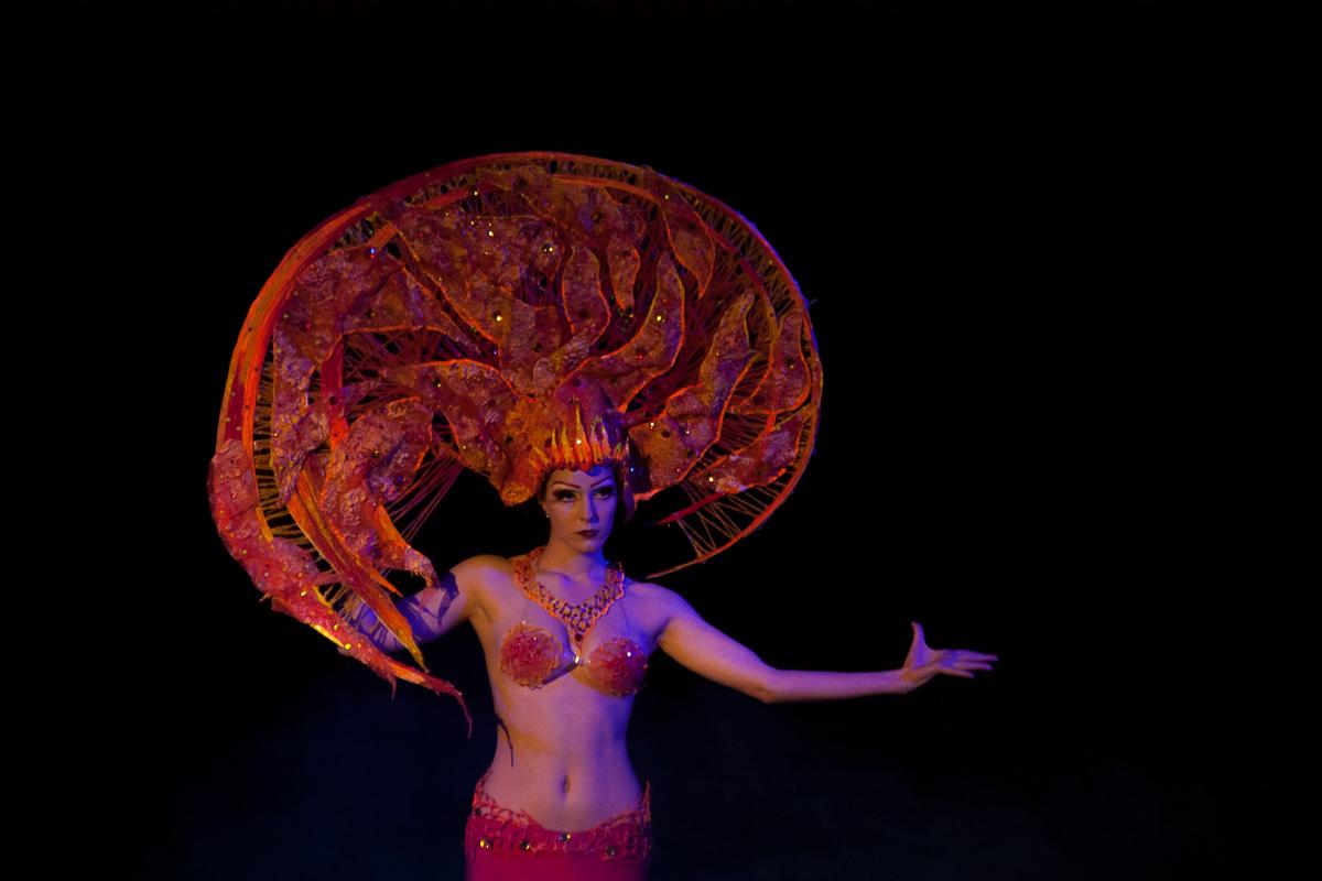 Image Fire in the style of Karol Bak. Diploma makeup. Odessa Theater School. graduate 2015