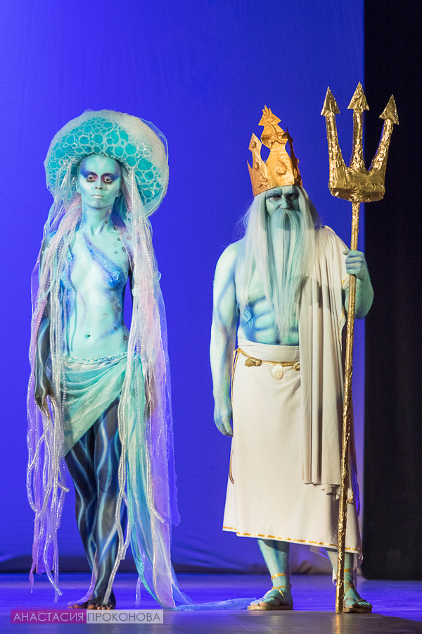 The images of Neptune and Medusa