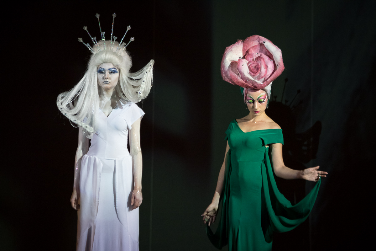 Images of the Queen and Roses from the fairy tale Snow Queen