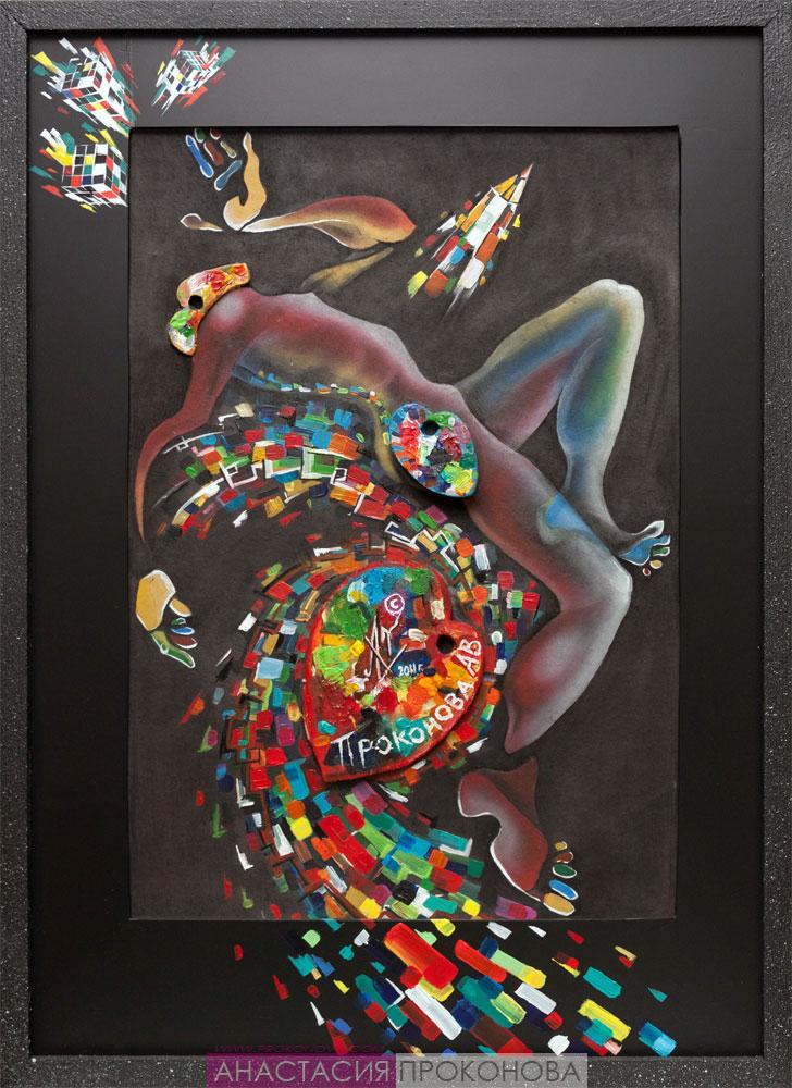 Цикл «Искусство». «Пикассо». Живопись. Акрил. 2013 г.