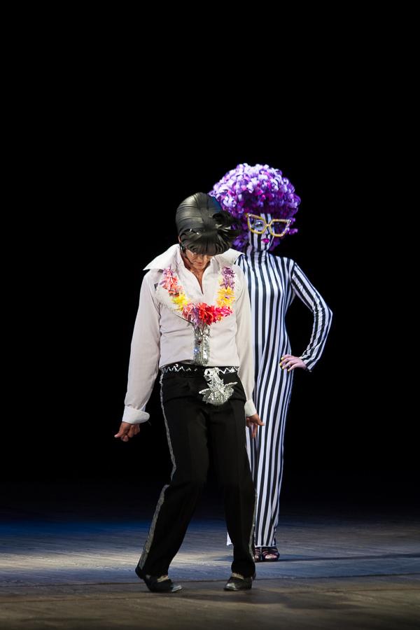Pop Art images of Angela Davis and Elvis Presley. Diploma makeup. Odessa Theater School. graduate 2015