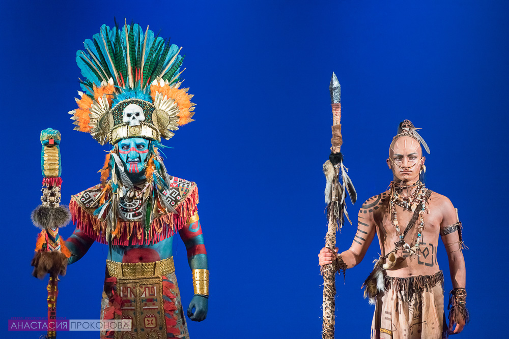 Warrior-Aztec and his God