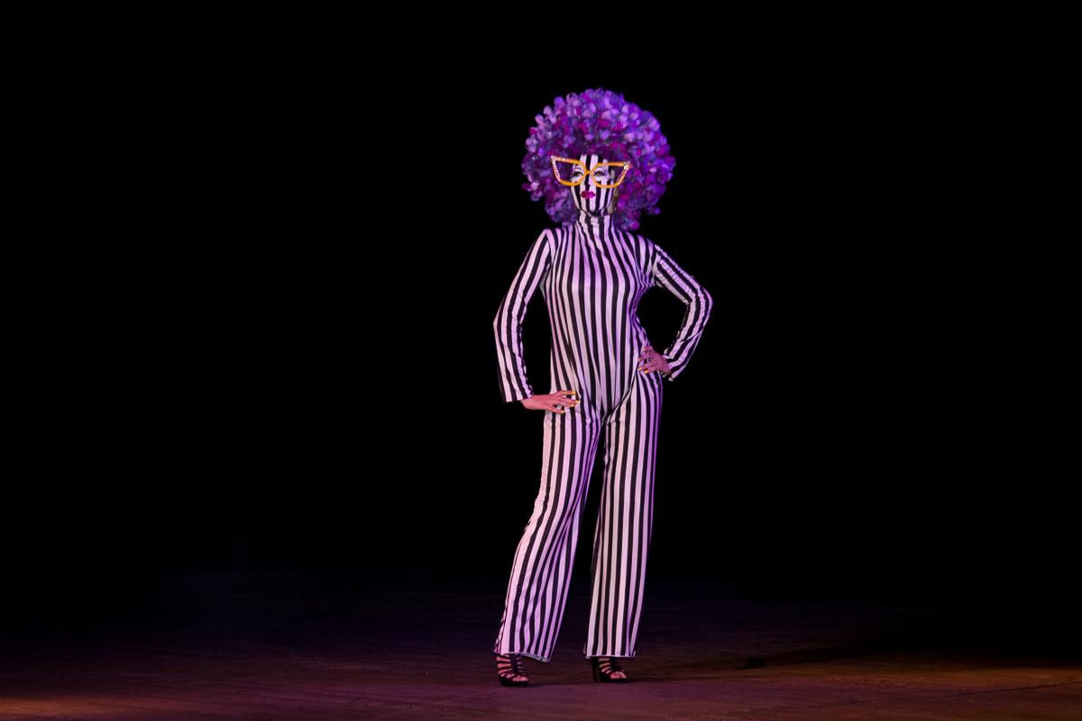 Pop art image of Angela Yvonne Davis. Diploma makeup. Odessa Theater School. graduate 2015